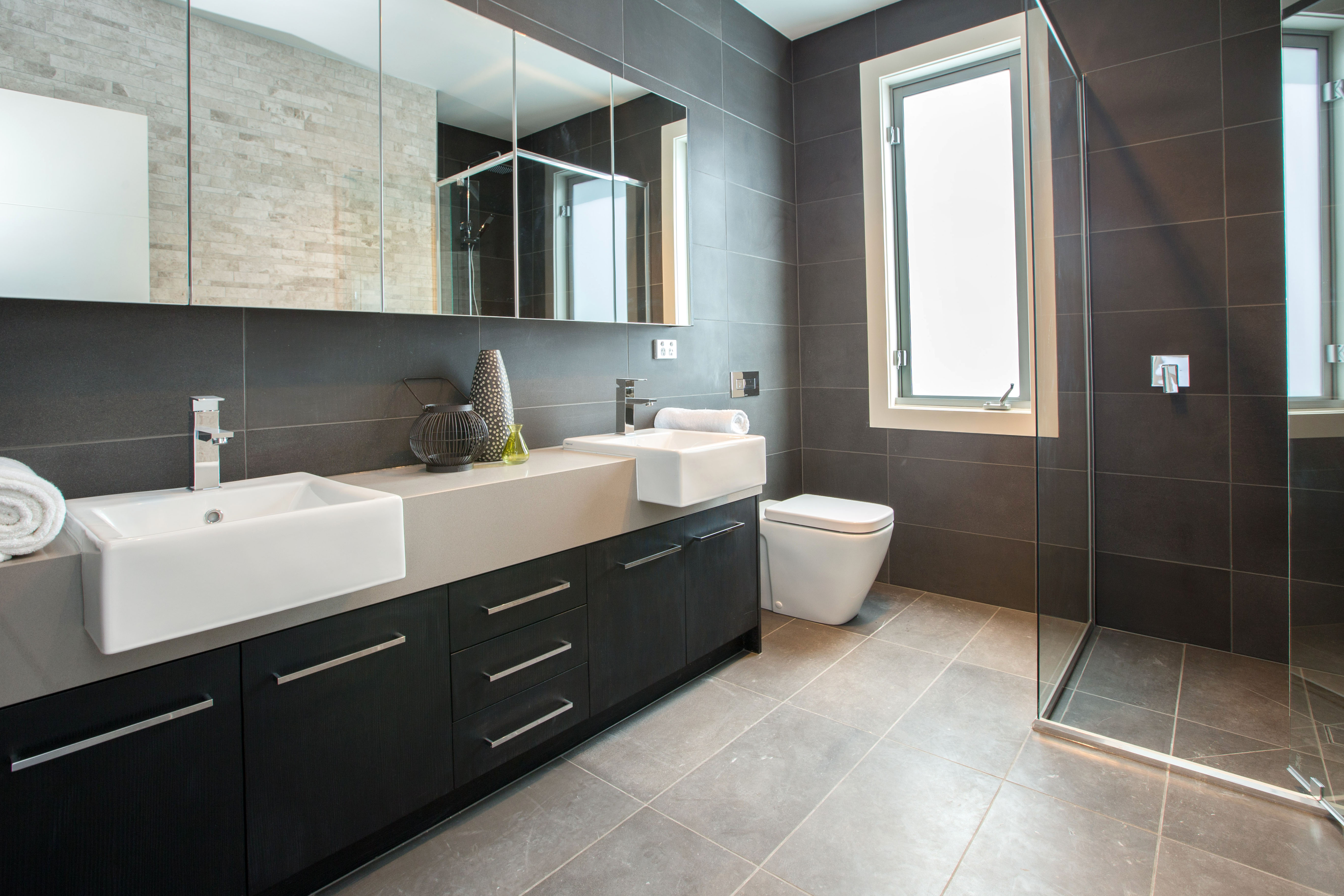 Bathroom Tiles Floor To Ceiling project: 17a strachans road, mornington – kate walker design – kwd