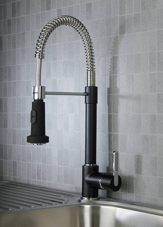 Black Bathroom Taps : TREND ALERT -Black is back! Kate Walker Design