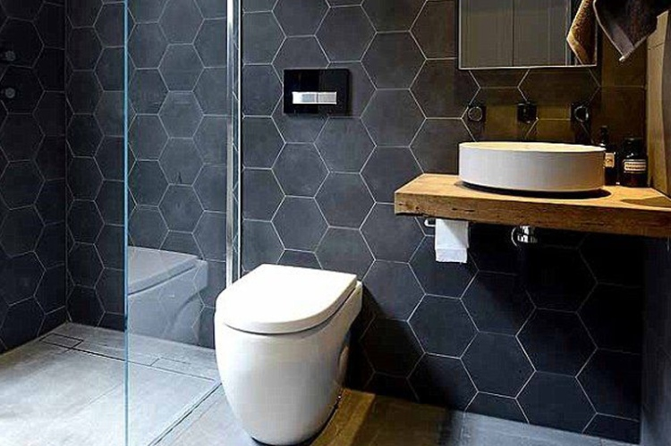 small hexagon bathroom tiles tile trend hexagonal tiles kate walker design kwd 20546